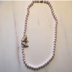 Special pink pearl necklace